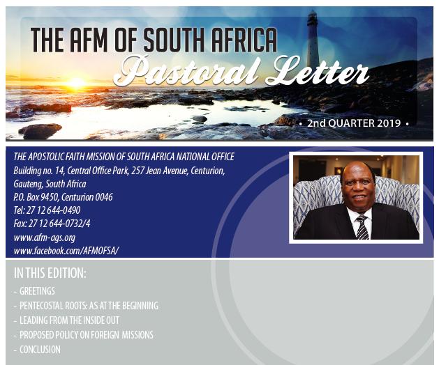 Pastoral Letters Archives - AFM South Africa